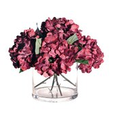 Floral Hydrangea in Cylinder Vase