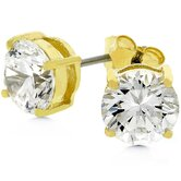 Sterling Silver Cubic Zirconia Leah Stud Earrings