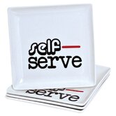 4 Piece Self-Serve Appetizer Plates - Set of 2