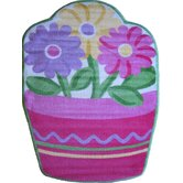 Fun Shape High Pile Flower Kids Rug