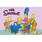 The Simpsons Family Breakfast Kids Rug