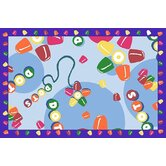 Tootsie Roll Dots Kids Rug