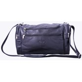 "17"" Mini Leather Carry-On Duffel"