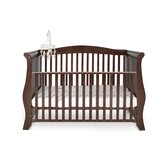 Hollie Sleigh Convertible Cot Bed in Walnut
