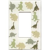 Artitude Dinosaurs Decorative Light Switch Cover - Single Rocker Switch