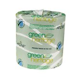 "Green Heritage Toilet 4"" Tissue, 1-Ply, 1000/Roll"