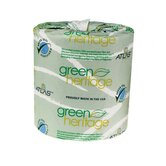 "Green Heritage Toilet 2.4"" Tissue, 2-Ply, 500/Roll"