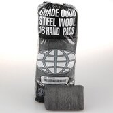 Industrial Quality Steel Wool Hand Pad, Extra Coarse - 16/Pack