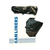 0.9 Mil Low-Density Can Liner in Black, 20/Box
