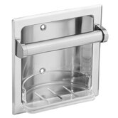 Recessed Fixtures Soap Holder in Triple Plated Polished Chrome