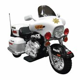 Police Motorcycle Ride-On in White