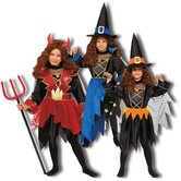 3-in-1 Devil, Wizard, Witch Children's Costume Set