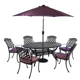 Oval Cast Aluminium 6 Seater Dining Set with cushions
