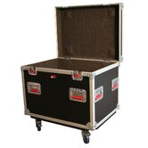 "Truck Pack Trunk with Casters: 21.88"" H x 29.38"" W x 22"" D"