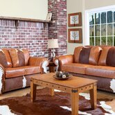 Rawhide Leather Living Room Collection