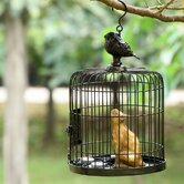 Bird Cage and Cat Sheet Metal Wire Lantern