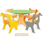 Tree Table with Zebra and Giraffe Chairs