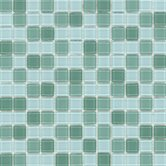 "Elida Glass 12"" x 12"" Mosaic in Jade Multicolor"