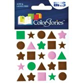 Colorstories Puffy Mesh Stickers (Set of 25)