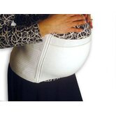Full Support Maternity Belt in White with Side Velcro Closure
