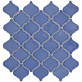 "Beacon 12-1/2"" x 12-1/2"" Porcelain Mosaic in Blue"