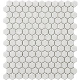 "Retro 7/8"" x 7/8"" Glazed Porcelain Hexagon Mosaic in White"