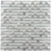 "Sierra 11-3/4"" x 11-3/4"" Glass and Stone Mini Mosaic in Ming"