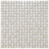 Posh 11-3/4&quot; x 11-3/4&quot; Pixie Porcelain Mosaic Wall Tile in Almond