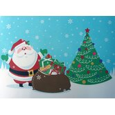 Santa's Surprise Expanded Foam Vinyl Placemat (Set of 4)