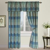 Plaid Panel and Valance Set