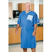 40&quot; x 50&quot; Exam Gowns Amplewear&reg; Nonwoven in Blue