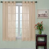 Odor-Neutralizing Sheer Voile Grommet Window Curtain Panel in Latte