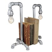 "Industrial Evolution Bookend 19.5"" H Table Lamp (Set of 2)"