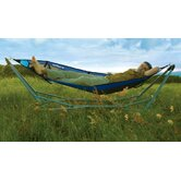 Lay Portable Hammock in Blue Mesh