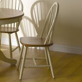 Windsor Dining Chair in Natural Timber and Buttermilk