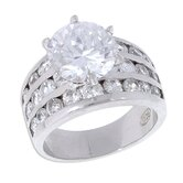 Sterling Essentials Sterling Silver Cubic Zirconia Wedding Ring