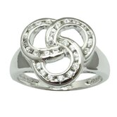 Sterling Essentials Sterling Silver Cubic Zirconia Celtic Ring