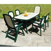 Toscana Ravenna Table with optional Delta and Beta Chairs in Green