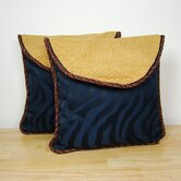 Z-Braided Pillow (Set of 2)