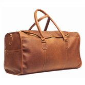 "22"" Leather Half-Moon Zipper Travel Duffel"