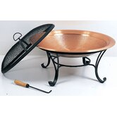 Copper Hammered Fire Pit