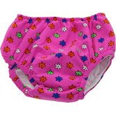 Waterproof Swim Diaper in Floral Pink Print