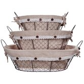 Home Essentials and Beyond Decorative Baskets, Bow