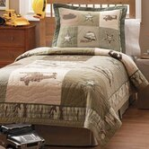 Alpha Bravo Charlie Quilt with Shams