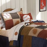 Classic Sports Quilt with Pillow Sham, 200 Thread Count Sheet Set, Pillow, and Valance