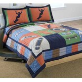 Cool Skate Quilt with Pillow Sham, Dust Ruffle, Sheet Set, and Valance