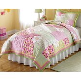 Julia Quilt with Pillow Sham, Sheet Set, Valance, and Pillow