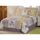 Patch of Flowers Full / Queen Quilt with 2 Shams