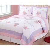 Fairy Princess Garden Quilt with Pillow Sham, Sheet Set, Dust Ruffle, and Valance