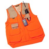 Left Handed Gun Dog Vest in Orange